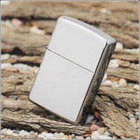 Electronic oil lighter - Oil lighter silver lighter cool mirror lighter classic smooth mirror face lighters gift