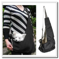 Wholesale High quality Pet Carrier Bag Oxford Cloth Dog Cat Carrier Single Shoulder Bag Black S M L Size Dropshipping