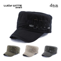 Wholesale Letter nb male cadet cap cotton military hat hasp adjust hat male sun shading