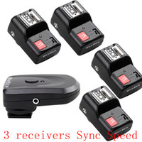 Wholesale new Promotion PT gy Channels Wireless Radio Flash Trigger set with receivers Sync Speed s with tracking
