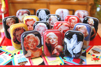 Wholesale Metal Marilyn Monroe candy case box Party gifts box Jewelry box