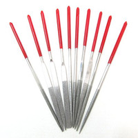 Aluminum Round Rotary Files 10x Needle Files Set Jewelers Diamond Wood Carving Craft Tool Metal Glass Stone[010262]