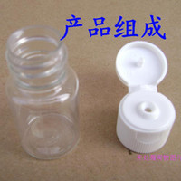 Wholesale Freeshipping ml Plastic Lotion Bottle Clamshell Tranparent PET Cosmetic Jar Refillable Glass Bottle