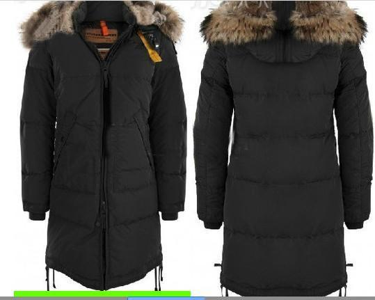 2017 Popular! Hot Brand Woman 100% Down Coat Women Long Parka Bear