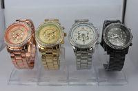 Wholesale NEW luxury Michael rose gold quartz sport Stainless Steel Men s Watch with calendar opp bag packaging m