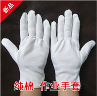 Wholesale 100 cotton white gloves liturgy gloves work gloves male women s gloves
