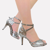 Wholesale 2016 Women s Latin dance shoes Red Square fellowship dancing in high heeled shoes soft bottom dancing shoes