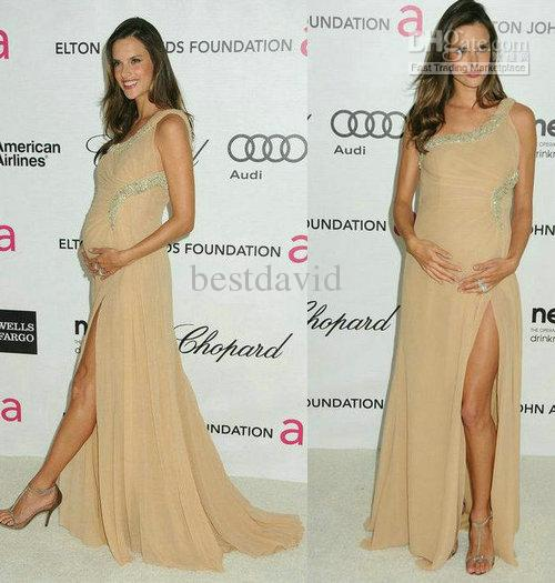 2013 Customized Alessandra Ambrosio Maternity Celebrity Evening ...