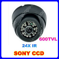 CCD Indoor 24 LED High Resolution SONY CCD 3.6mm Lens Night Vision 600TVL 24 IR Infrared Indoor Dome CCTV Camera
