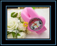 Wholesale Baby Wrist Watch With Lovely Rabbit High Quality Candy Jelly Silicon Watch for Children Best Christmas Present YL