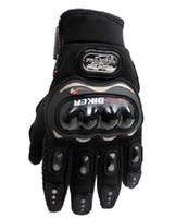 Wholesale Motorcycle Racing Bike Bicycle Full Finger Protective Gloves black