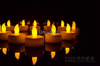 Wholesale LED Tea Lights Flameless Candles Great for Luminaries Parties Weddings Led candle lights candle birthday candle lamp EMS freeLED11