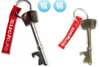 Wholesale 2013 brand new Keychain Design SUCK UK Bottle Opener Key Ring Bar Beer Opening Tools color for choice freeshipping best2011