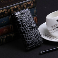 Wholesale Croco Crocodile Skin Snake Pouches with Stand Holder wallet ID Credit Card Slots Flip Leather Case For iPhone5c iPhone C Retail Package
