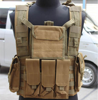 Wholesale Brand New Trainer Airsoft Paintball Tactical Combat Molle RRV Vest With Canteen Hydration Color