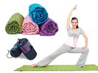 Wholesale Brand New Ultra Soft Microfiber Anti Slip PVC Dots Yoga Mat Towel with Bag