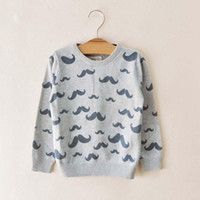 Wholesale New Children Sweater Pullover Boys Gray Tops Knitted Sweaters Kids Clothing Fashion Casual Pullover Wool Sweaters Child Long Sleeve Pullover