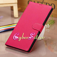Wholesale For Sony Xperia SP M35h Litchi Wallet PU Flip Leather Case Cover With Credit Card Slots Pouch Stand