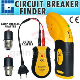 Wholesale E04 Circuit Breaker Fuse Control Locator Electric Electrical Finder Tool Receiver Transmitter Lamp Socket Outlet Adapters Tester