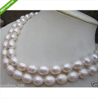 Wholesale 12 MM AAA NATURAL WHITE SOUTH SEA BAROQUE PEARL NECKLACE K quot INCH