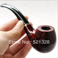 Wholesale Solid Wood Carved Pipes - Special offer Hot explosion models Solid wood carved pipe Smoking Free shipping cfx109