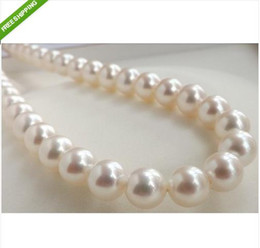 Wholesale LUXURY AAA MM PERFECT ROUND SOUTH SEA GENUINE WHITE PEARL NECKLACE quot K