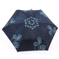 Wholesale Dandelion Butterfly Folding Umbrella Parasols Lady UV Parasols MINI Umbrella S040