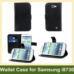 Wholesale Fashion Wallet Case for Galaxy Express i8730 Leather Flip Cover Case for Samsung Galaxy Express i8730 10pcs lot Free Shipping