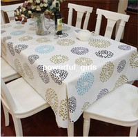 Wholesale don t need wash pvc waterproof and oilproof Table Cloth Cover Tablecloth Home Decor