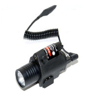 Wholesale M6 Tactical Flashlight Red Laser With CREE LED Bulbs Lumens For Airsoft Outdoor