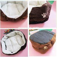 Wholesale Warm Round Indoor Soft Fleece Pet Puppy Dog Cat Kitten Bed House Basket Mat New