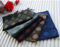 Wholesale just arrival mens FAUX CASHMERE scarf checker SCARF scarves stole cm mixed color