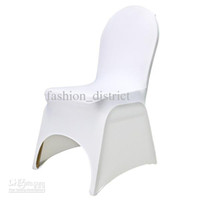 Banquet Chair Spandex / Polyester  100pcs White Spandex Banquet Chair Cover with An Arch On Feet for Hotel,Party,Wedding