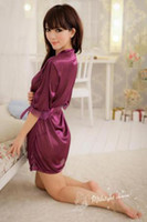 short kimono - Sexy Lingerie sleepcoat Nightgown Temptation Kimono fashion Short Dress Baby Dolls