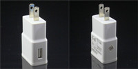 Wholesale 500PCS USB Wall Charger V A AC Travel Home Charger Adapter US EU Plug for Samsung Galaxy S3 S4 S5 I9600 Note N9000 DY