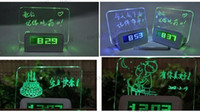 Wholesale Board clock electronic clock projection alarm Quieten lounged multifunctional luminous neon message MYY5656