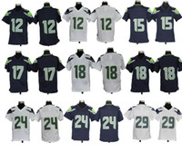 Wholesale Seahawks Youth Game Jersey College Navy White Hot Sale American Football Jerseys Super Bowl Kids Sportswear