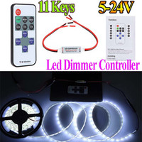 Wholesale V Keys Wireless RGB LED RF Remote Controller Mini Controller Dimmer for Single Color LED Strip