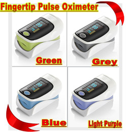 Wholesale FDA CE finger pulse oximeter SPO2 PR monitor OLED display color waveform Display Modesr Lots100