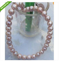 Wholesale savageness AA mm south sea purple PEARL NECKLACE quot k