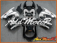 Wholesale Addmotor Injection Mold Fairings For Kawasaki EX R EX250R EX R Silver White Back K25127 Free Gifts
