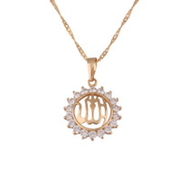Wholesale 18k Golden Charm Muslim Allah Jewelry Pendant for Islam with Free Matching Chain