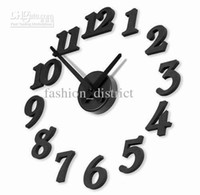 Wholesale New DIY Modern Time Design Wall clock decor Room black