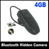 Wholesale Free ship by SG New Blutooth Earphone Shaped Hidden Camera dvr Recorder With GB Memory