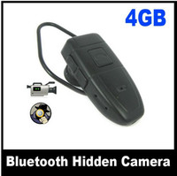 Wholesale Bluetooth Body Worn Spy Camera Mini Cam DVR Audio Video Recorder Camcorder DVR