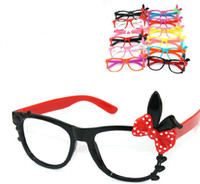 Wholesale Free EMS Cute Baby Children Girl Candy Colors Rabbit Glasses Shades Sunglasses Eyeglasses Frame For Disco Wedding KTV Club Party