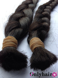 Wholesale New Product Brazilian Remy Virgin Human Bulk Hair For Braiding