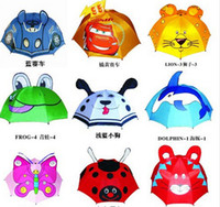 animal umbrellas - High quality creative children umbrella stereo modelling cartoon animals