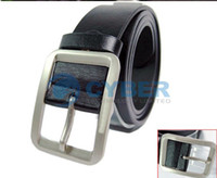 Wholesale New Men s Fashion Classical Faux Leather Premium Textured Metal Buckle Belt Colors