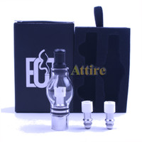 Electronic Cigarette Atomizer Clear White Glass Globe Tank Kits for Wax Dry Herb Vaporizer E Cigar Clearomizer Glass Atomizer for Ego Series Battery E Cigarettes Vapor Cigarettes